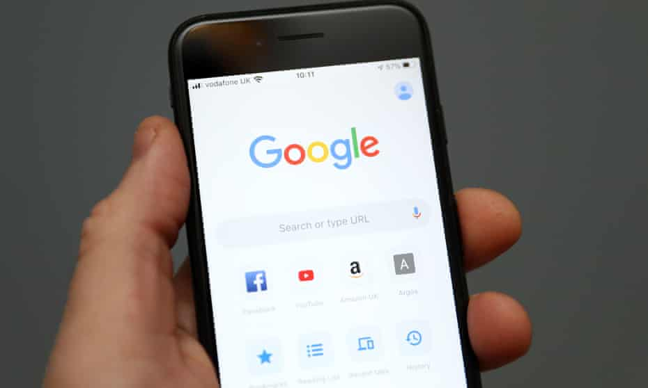 iPhone with Google on it