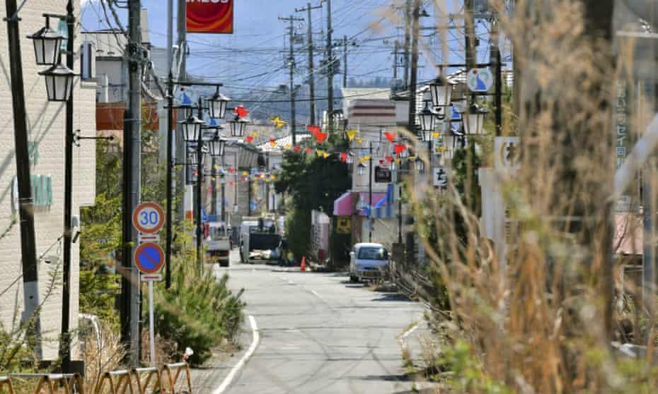 The central part of Okuma town, Fukushima in April, 2019
