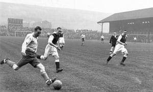 Stanley Matthews in action for the RAF team in 1943.