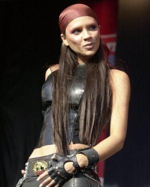 Victoria Beckham performing in Birmingham, August 2000.