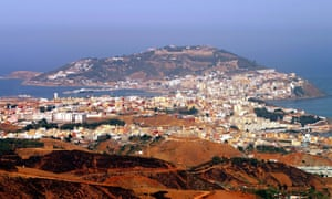 The Spanish enclave of Ceuta in north Africa.