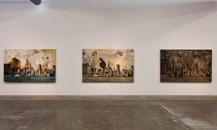 Anita Steckel's Giant Women series.
