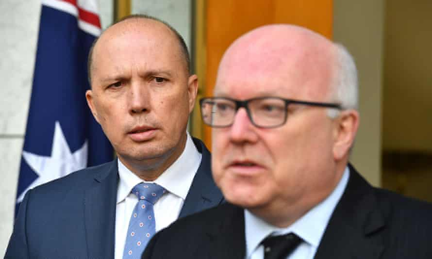 Peter Dutton and George Brandis
