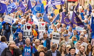 Protest march against Brexit in London in September 2017