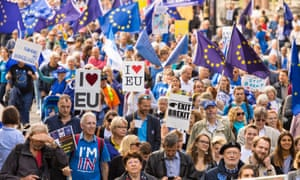 An anti-Brexit demonstration in London. The priority of any new party should be to cancel Brexit, according to correspondent Judy Mason.
