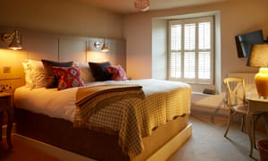 A bedroom at The Bull Hotel, Fairford, Gloucestershire