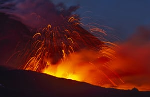 Etna, Sicily Mount Etna roars back into spectacular volcanic action, sending up plumes of ash and spewing lava