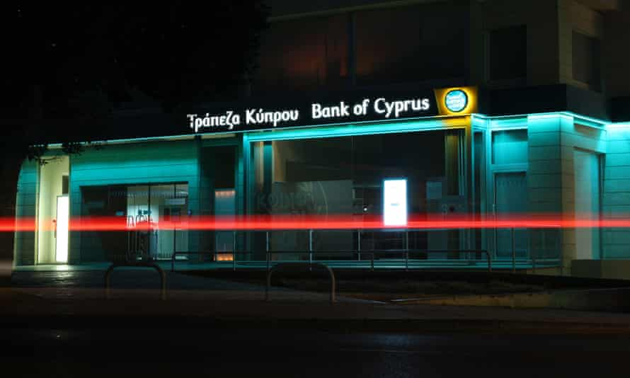 A branch of Bank of Cyprus branch in Nicosia in 2013, the year of the Cypriot bailout.