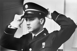 Presley during national military service duty between 1958 and 1960