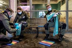 Copenhagen, Denmark Humboldt penguins get a vaccine against bird flu at the city zoo