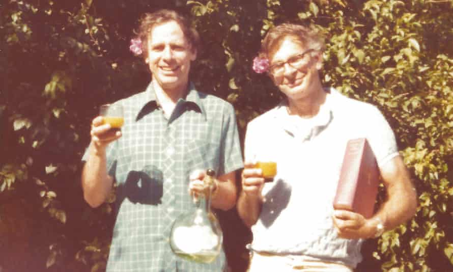 Amos Tversky, left, and Daniel Kahneman in the back garden of their first house in Stanford, California in the late 1970s.