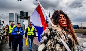 A protest in Rotterdam.
