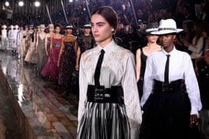 The Dior Croisiere fashion show at the domaine de Chantilly, near Paris.