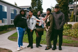The family of Anthony Ramsey in Richmond, California, on Wednesday, 18 November 2020.