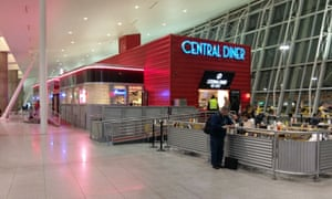 """The Central Diner at JFK airport, which was used as a rallying location for the Immigration Coalition's """"legal clinic"""" in January, was only home hungry travelers Wednesday, thanks to the judicial halt on Trump's ban."""