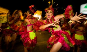 Carnival in Mazatlán, Mexico.