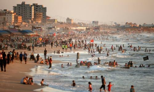 Gaza's first five-star hotel provides luxury and hope amid the blockades |  Gaza | The Guardian