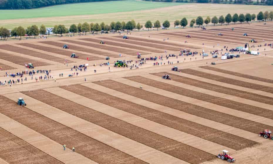 World Ploughing Championships 2018 Germany, at Herzog von Württemberg Einsiedel farm estate in Kirchentellinsfurt, Baden-Württemberg