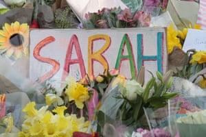 The Sarah Everard memorial on Clapham Common