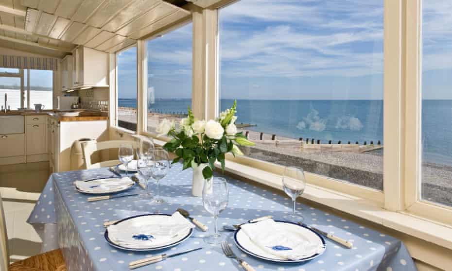 seabank table and sea view