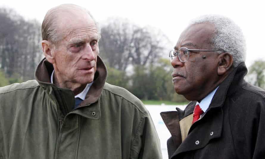 Apprehensive … Trevor McDonald is shown around one of the duke's estates
