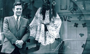 Alfred Radley outside a Radley shop window