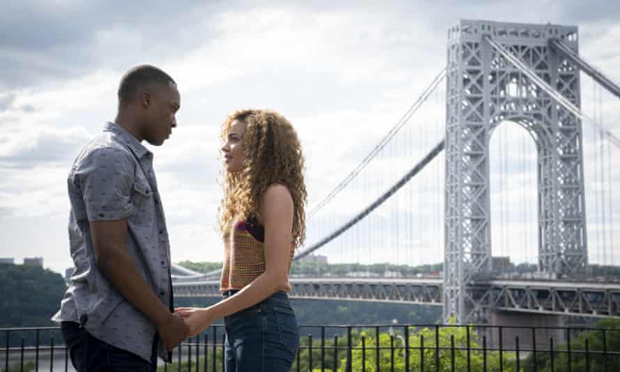 Corey Hawkins, left, and Leslie Grace in a scene from In the Heights.