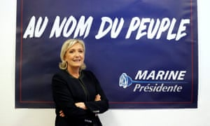 The polls indicate far-right National Front leader Marine Le Pen could be the president of France after elections in May.