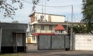 The main entrance of the prison in Yaroslavl.