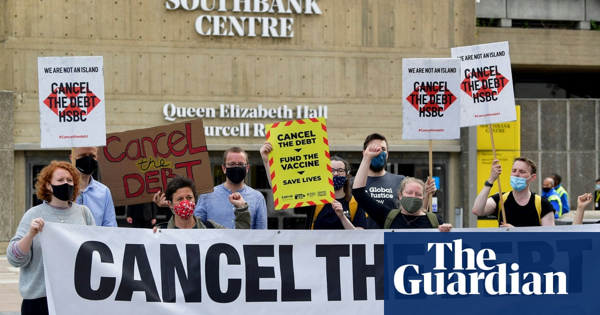 Protesters call on UK banks to 'drop African debt' in wake of Covid