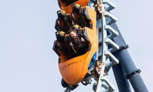 David Ellis on a rollercoaster