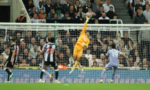 Newcastle United's Karl Darlow makes a save.