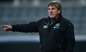 Peter Beardsley coaching Newcastle in a Premier League 2 match in December 2016.
