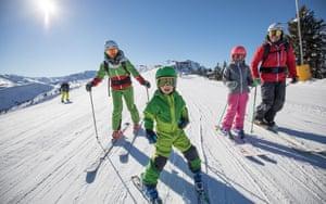 Skifahren,Alpbach ski resort, Austria