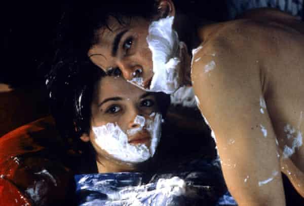 Binoche with Denis Lavant in Mauvais Sang (1986).