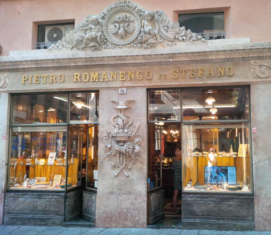 Romanengo sweet shop on Via Luccoli