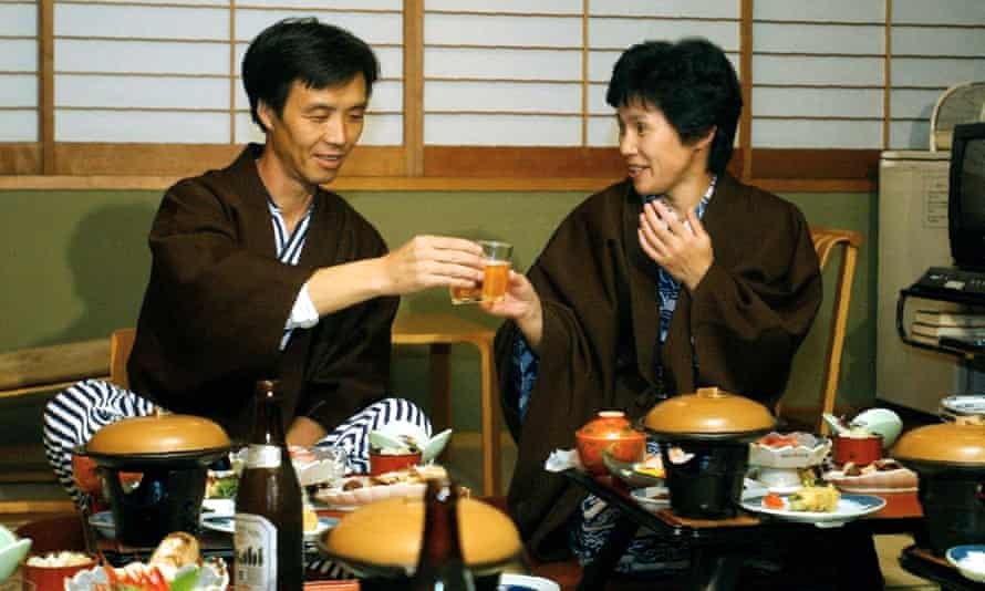 Kaoru Hasuike, 45, left, and his wife Yukiko Okudo, 46, in 2002 after being returned to Japan after 24 years in North Korea, where they were abducted to in 1978.