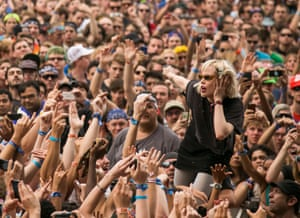 Glass with Crystal Castles at Lollapalooza festival in Chicago in 2013