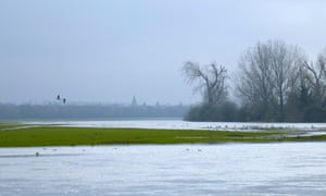 Flooded Port Meadow, Oxford.