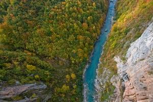 Tara Canyon viewed from Djurdjevica Bridge in Durmitor national park