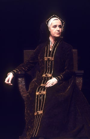 Peggy Ashcroft plays Queen Katharine in Henry VIII, in 1969