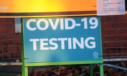 A Covid Testing sign