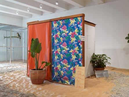 Part of Tropicália, the influential 60s installation by Hélio Oiticica.