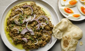 Crushed Puy lentils with tahini and cumin, by Yotam Ottolenghi.
