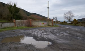 Border road, Flagstaff, near Newry, bordering Co Down, Co Louth and South Armagh.