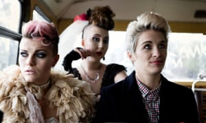 McClure, right, with Rosamund Hanson and Chanel Cressswell in This Is England '86.