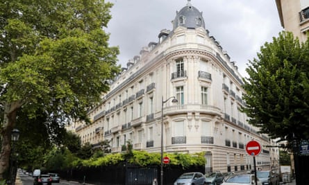 Jeffrey Epstein's apartment in this block in the 16th arrondissement in Paris was searched by French investigators on Tuesday.