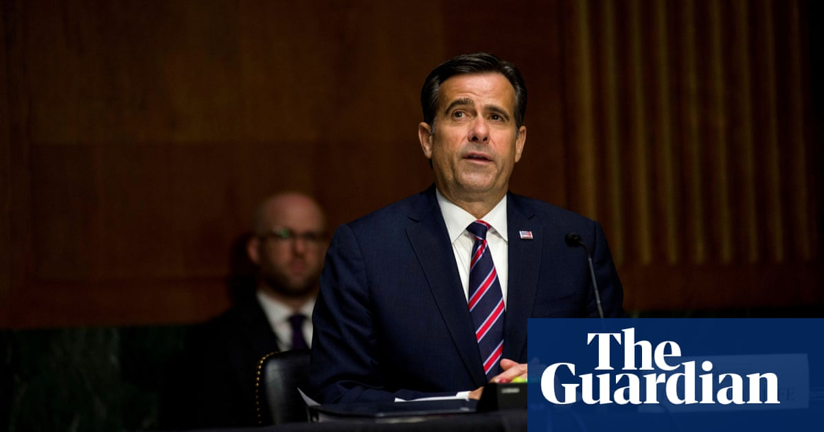 Trump loyalist John Ratcliffe confirmed as new US intelligence chief
