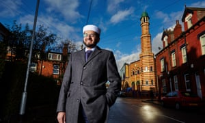 Qari outside his mosque in Leeds.