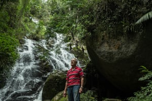 POUSO DE ROCHEDO, BRAZIL - MARCH 04, 2017: Antonio Vicente in the forest. He has spent the last 40 years reforesting his land, bringing life back to an area that was razed for cattle grazing.